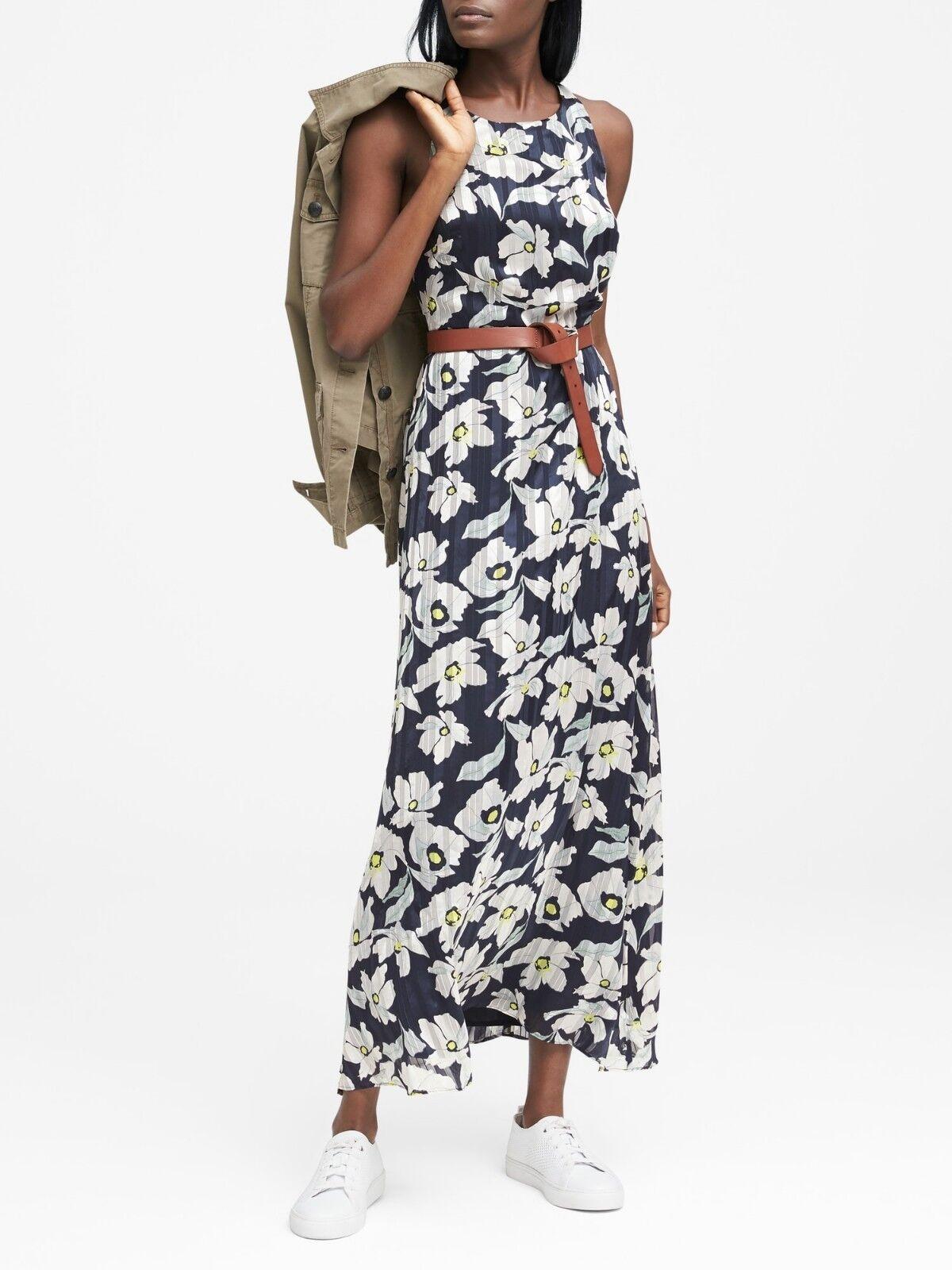 sz 4 Banana Republic Floral Fit-and-Flare Maxi Dress