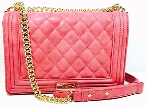 Image Is Loading Bcbg Paris Cardinal Quilted Chain Shoulder Bag