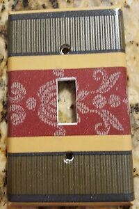 Details about Light Switch Plate Outlet Covers w/ CROSCILL DUNHILL DOVER  MANOR Green Burgundy