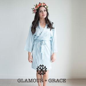 Image is loading LIGHT-BLUE-Bridal-Bride-Bridesmaid-Wedding-Robe-Dressing- cbea7823d