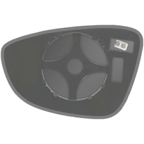VW Scirocco 2008-2018 Côté Droit Chauffé Wing Mirror Glass /& Plaque 128 rshp