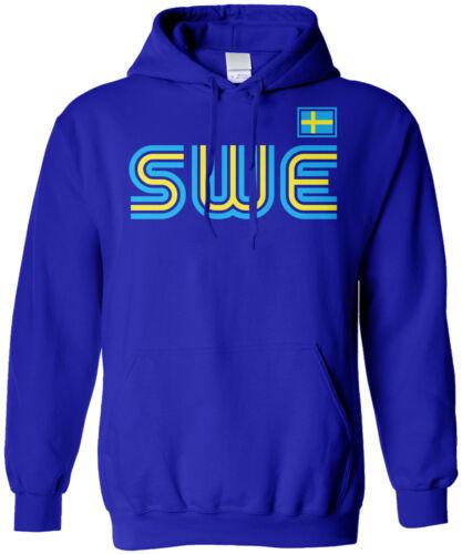 Sweden Athletic Retro Series Unisex Hoodie Sweatshirt Soccer