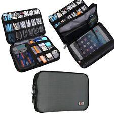 BUBM Double Layer Travel Gear Organiser / Electronics Accessories Bag (Medium,Gr