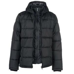 Lee-Cooper-Men-039-s-Two-Zip-Padded-Jacket-Black-Size-L-New