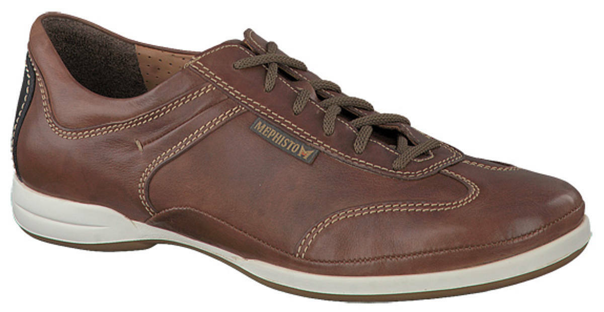 Men's Casual Lace Up shoes Mephisto Ricario Chestnut UK Size 10.5