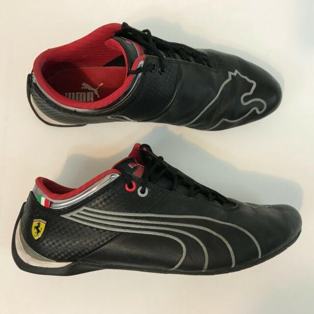 a5d535e31 Men's PUMA FERRARI FUTURE CAT M1 SF Black & Red Leather Driving Sneakers 10