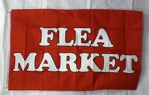 "/""FLEA MARKET/"" super flag banner advertising sign"