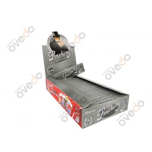 SMOKING MASTER ARGENTO Cartine Medium 1 1//4 Scatola 25 LIBRETTI