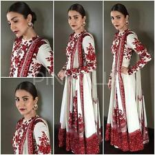 Indian Stylish Designer Bollywood PartyWhite Anarkali Salwar Suit Women Ladies