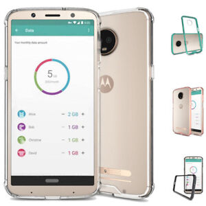 new style 75d38 20896 Details about Dooqi For Motorola Moto Z3 / Z3 Play Soft TPU Shockproof  Bumper Clear Case Cover