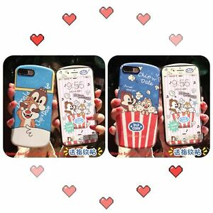 Chip N Dale Phone Case Protecter Home Button Sticker For Iphone Samsung Popcorn Ebay
