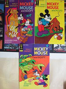 Walt-Disney-039-s-Mickey-Mouse-and-Goofy-Gold-Key-1972-74-VF-Lot-136-148-149