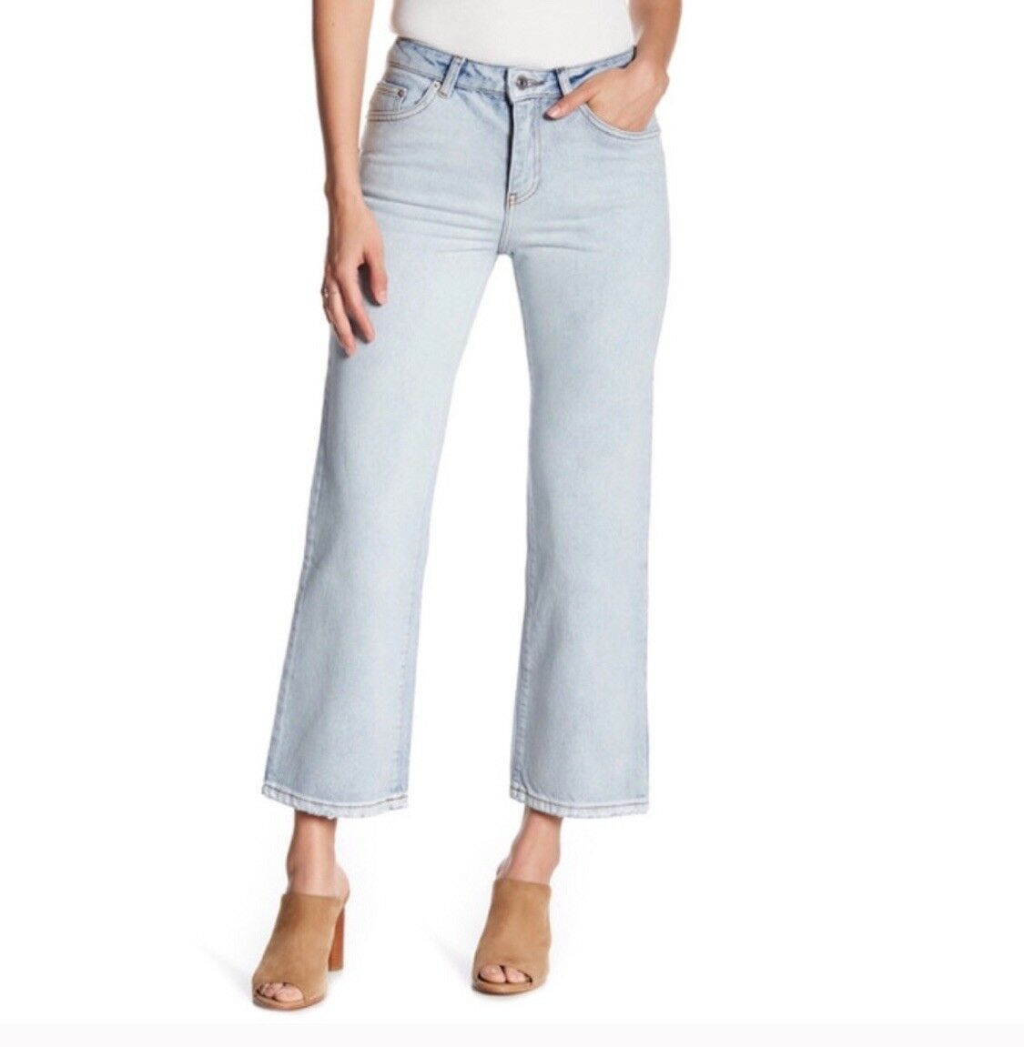 Sincerely Jules Jeans Elise Crop Flare High Rise Woman Size 29 New NWT