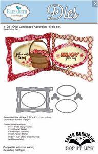 Elizabeth Crafts Designs Cutting Die Set Oval Landscape Accordion 3d
