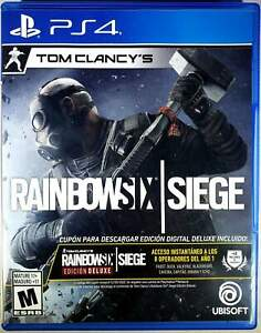 Tom Clancy's Rainbow Six Siege PS4 (Sony PlayStation 4, 2015) Brand New