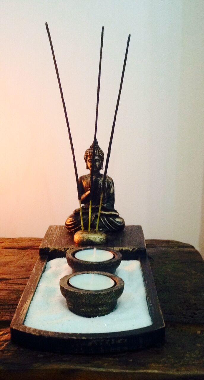 decor tea light candle zen garden buddha decoration feng shui incense sticks ebay. Black Bedroom Furniture Sets. Home Design Ideas
