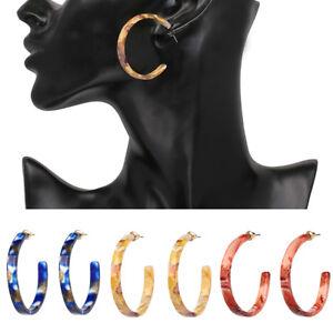 Eg-Femme-Noel-Resine-Cercle-Ouvert-Boucles-D-039-Oreilles-Creoles-Fete-Decor