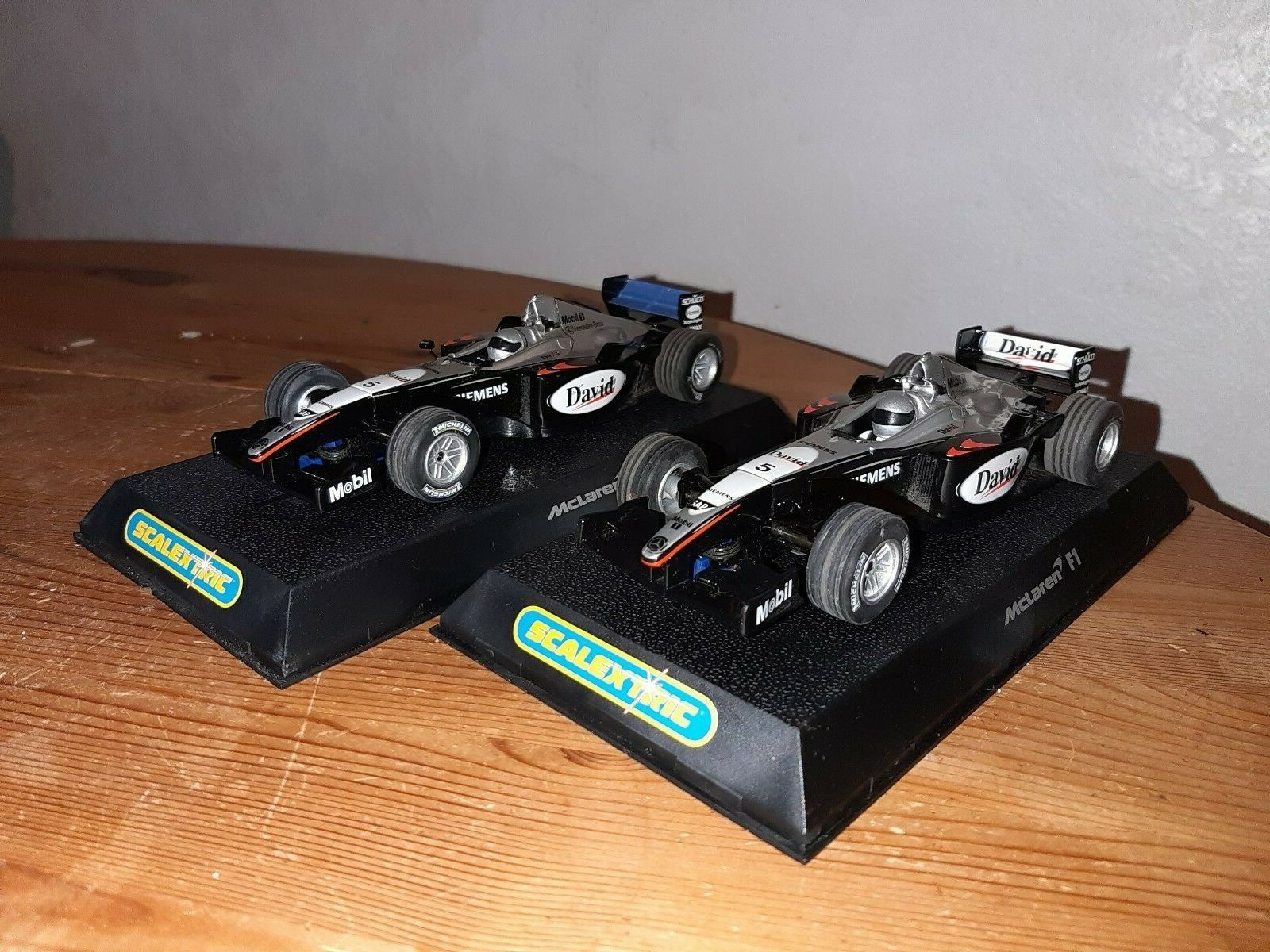 Scalextric Cars 2 x F1 McLaren Mercedes David Coulthard