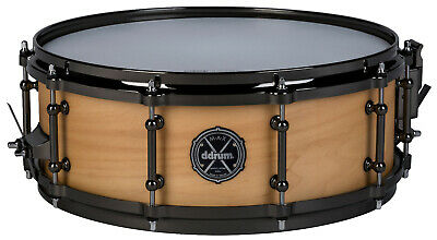 dDrum 6.5 x 14-inch Max Series 6-Ply Maple//Alder Snare Drum Piano Black Finish