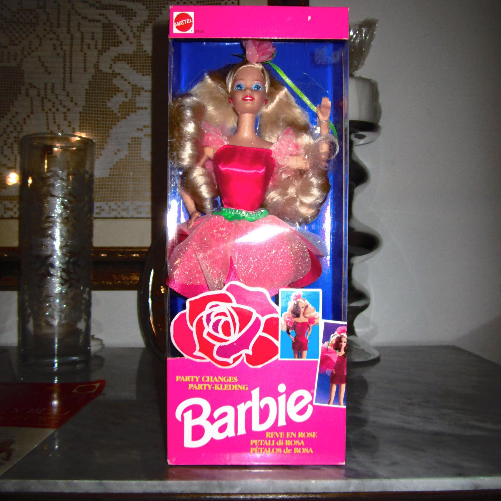 1992 Party Changes Barbie Petali di Rosa hawaiian superstar picture pretty