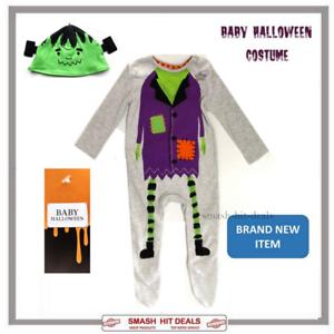 Frankenstein Halloween  Baby Grow Boys All In One Babygro Fancy Dress Costume