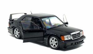 SOLIDO-1801001-MERCEDES-BENZ-190E-EVO-2-diecast-model-road-car-black-1990-1-18th