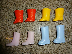 Barbie Kelly Tommy Doll - Lot of 4 Pair - Shoes Rubber Boots