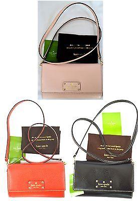 NWT Kate Spade Natalie Wellesley Leather Clutch Convertible MINI Cross body Bag