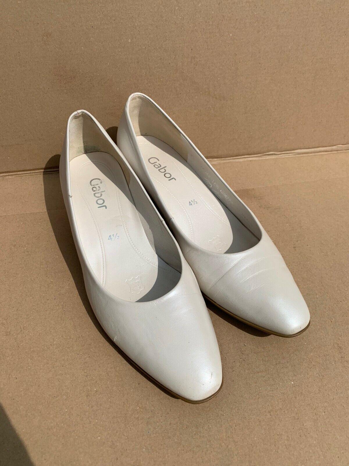 Gabor Pumps Hochzeit Schuhe in Gr. 37,5 (4,5) offwhite