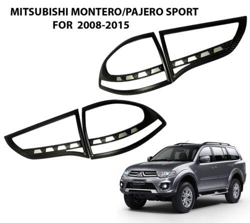 Carbon Kevlar Tail Light Lamp Rear Cover MITSUBISHI MONTERO PAJERO SPORT 2008-14