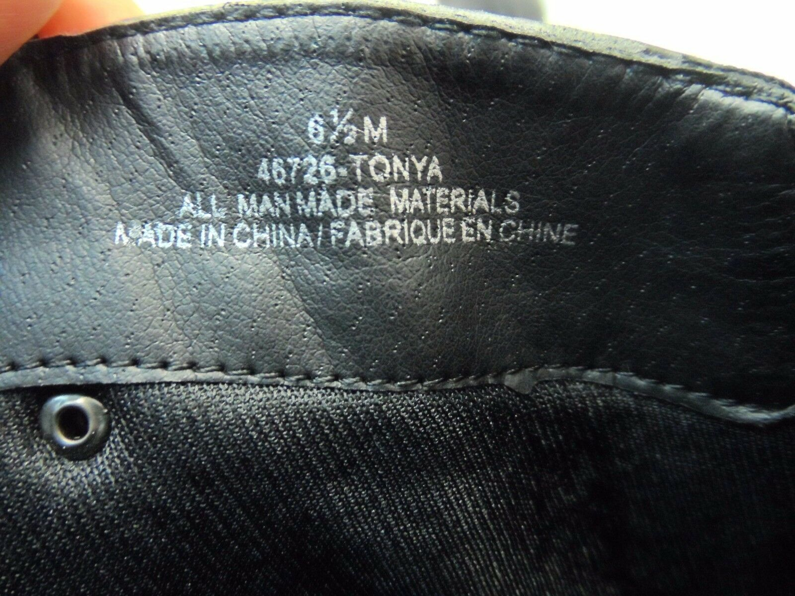 Maurcies Round Women's Tonya Synthetic Round Maurcies Toe Boot Black Size 6.5M 37186c