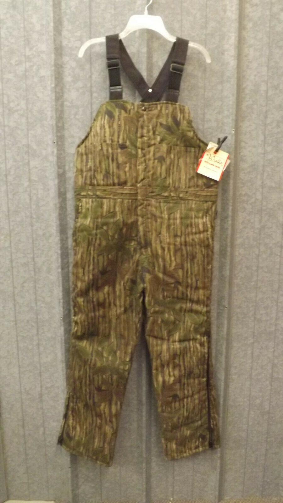 Vtg NEW Walls Blizzard-Pruf Realtree Green Leaf Camo Bib  O lls XL w Quarpel  40% off