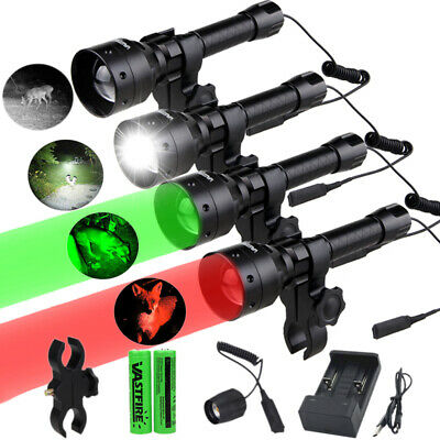 Zoom Green Red LED Coyote Hog Predator Varmint Hunting Light Beam Lamp 400 Yards