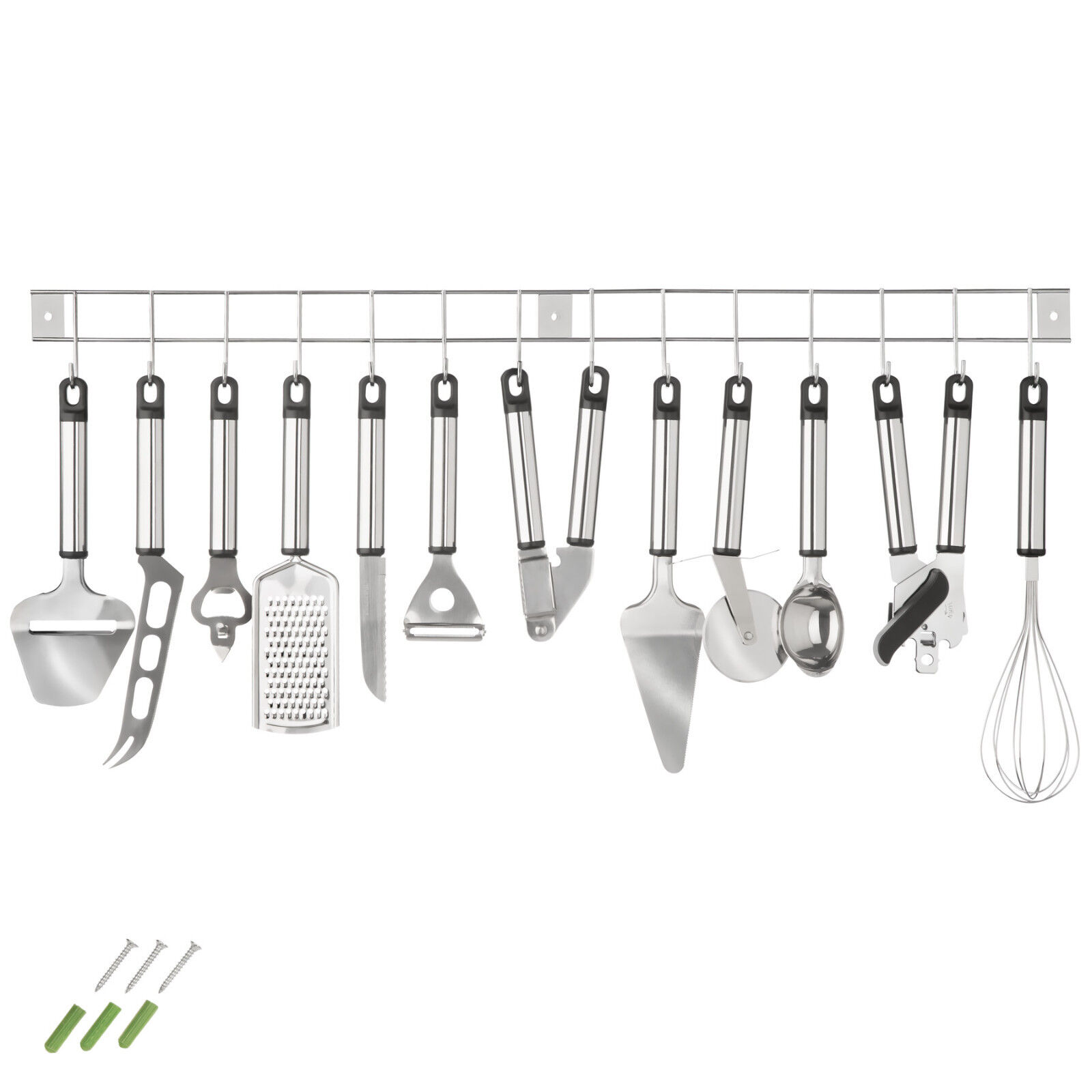 Herramientas Utensilios De Cocina + Listón Para Colgar Conjunto Accesorios 13 Pz