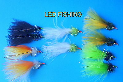 X4 Goldhead Taddies 10 Assorted Colours Lure Trout Fishing Flies
