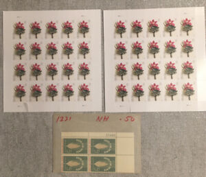 2 Sheets United States Boutonnière 40 Forever Stamps w/ Extras! No Reserve d785