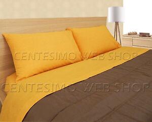 Letto Matrimoniale Giallo : Completo lenzuola matrimoniale made italy cotone letto piazze giallo