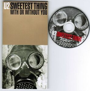"""U2 Sweetest Thing / With Or Without You JAPAN 3"""" CD SINGLE PHDR-953 Free S&H/P&P"""