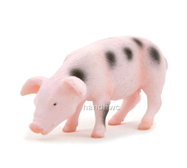 Mojo Fun 387095 Spotted Piglet Feeding Farm Animal Toy Pig Replica - NIP