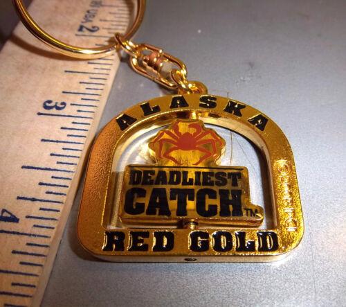 Alaska Deadliest Catch Red Gold Spinner Keychain New Unused ships worldwide
