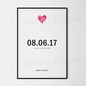 Personalised Valentines Day Gifts For Her Him Wife Girlfriend Boyfriend Love Ebay