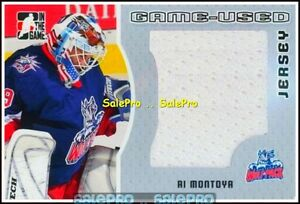ITG-HEROES-amp-PROSPECTS-2005-AL-MONTOYA-RC-WOLF-GOALIE-ROOKIE-GAME-JERSEY-100