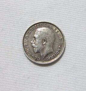 GREAT-BRITAIN-SILVER-3-PENCE-1913-KING-GEORGE-V