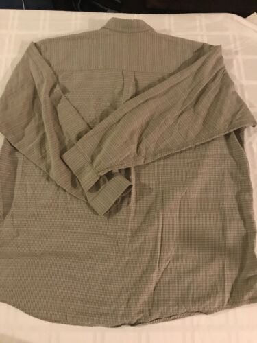 Ts9 Patagonia Olive 100 lange voorkant katoen mouwen Plaid knopen aan met de Xl met Mens shirt rFwnYOrZq