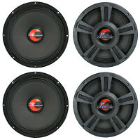 4) Lanzar Opti10mi 10 4000 Watt 4-ohm High Power Mid Bass Car Audio Speakers