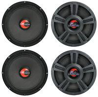 4) Lanzar Opti10mi 10 4000 Watt 4-ohm High Power Mid Bass Car Audio Speakers
