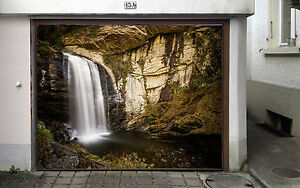 3D Cliff Falls 078 Garage Door Murals Wall Print Decal ...