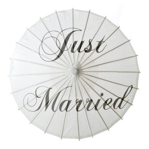 "Aspire White Paper Umbrella Parasol /""Just Married/"" Wedding Bridal Photo Shooting"