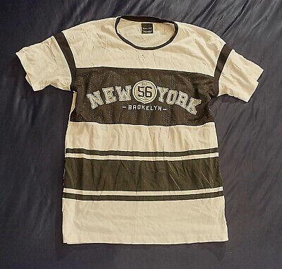 GUESS Tops Shirts Rundhals Top Logo Shirt Schwarz 100/%Baumwolle M,L,XL