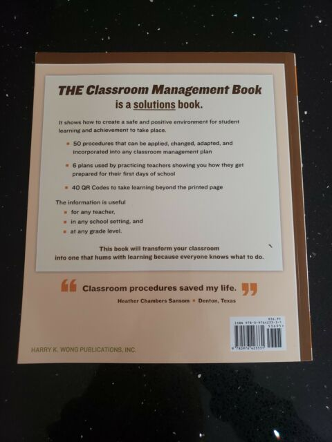 The Classroom Management Book By Rosemary T Wong And Harry K Wong